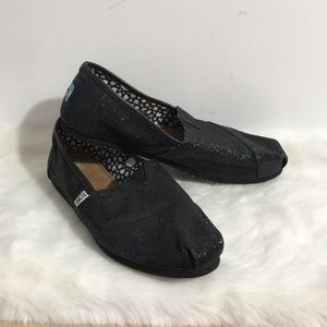 Toms women slip on/Flats Shoes Size W10 Black